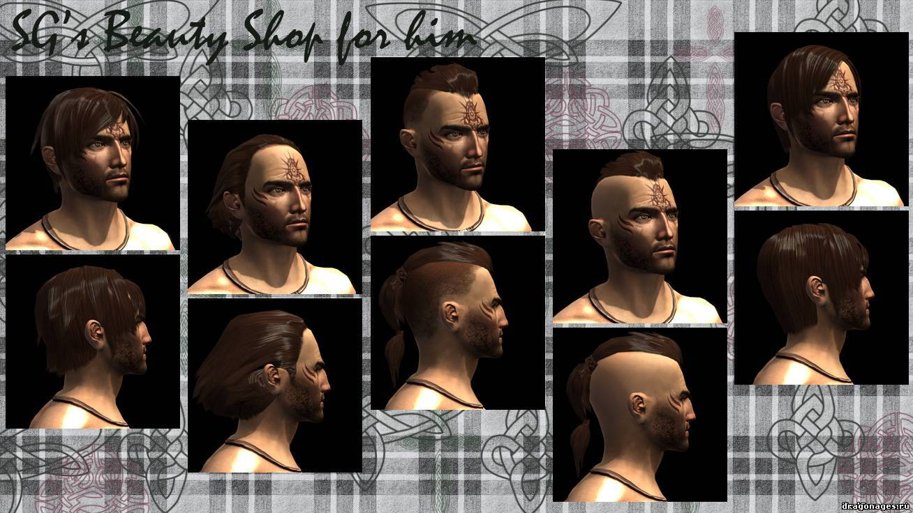 Мужские причёски skyrim