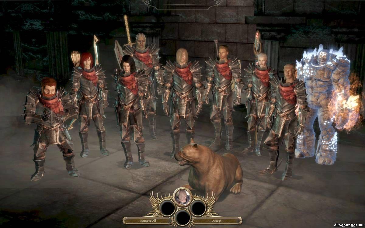 Доспехи из Da2 в Dragon Age: Origins, превью