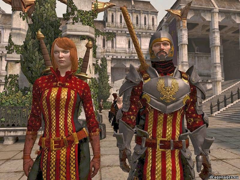 Тёмно алая броня для Dragon Age 2, превью