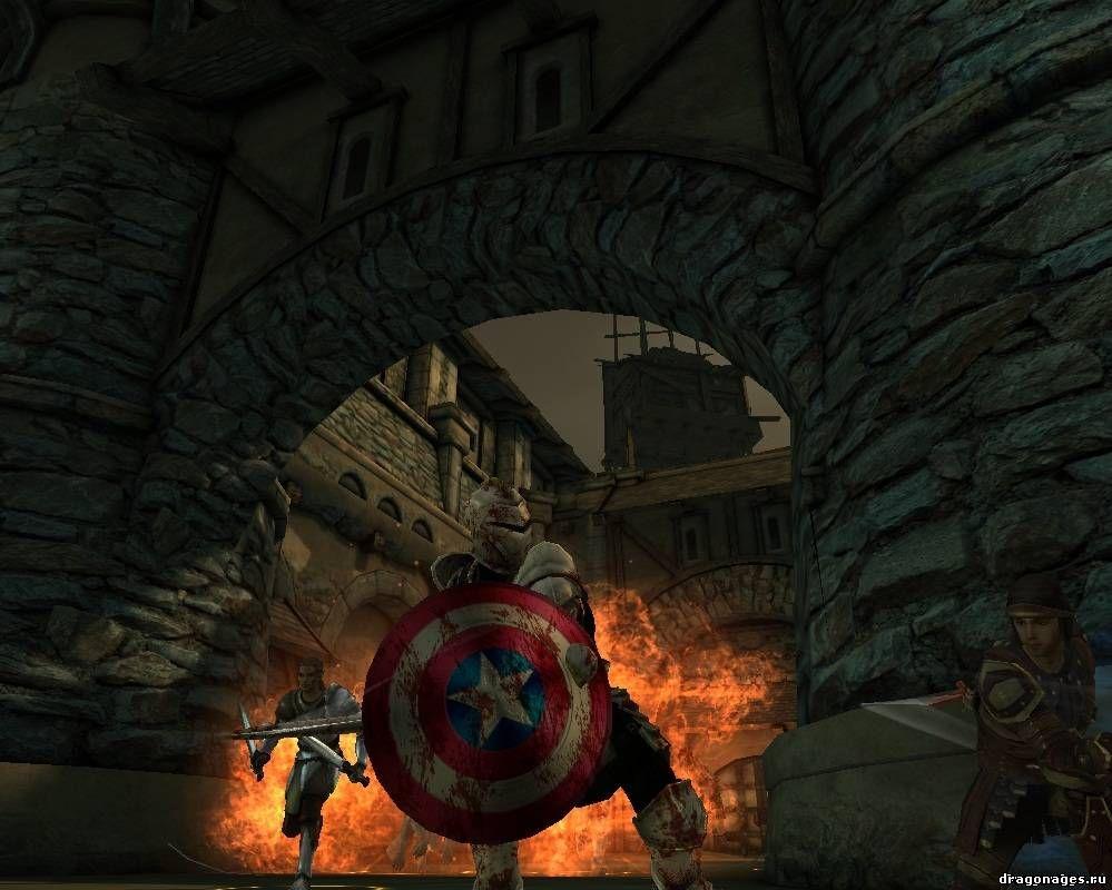 """Щит """"Капитана Америки"""" для Dragon Age: Origins, превью"""