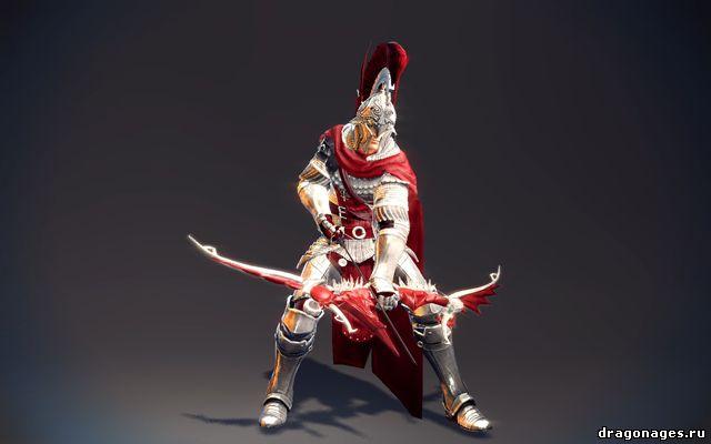 Красивая рыцарская блестящая броня для Skyrim, превью