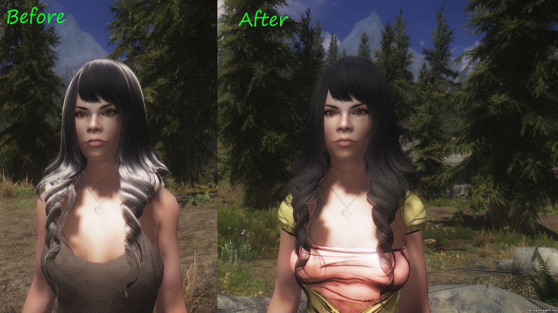 Новый набор причесок Fallout Hair Pack Fixed в Skyrim, превью