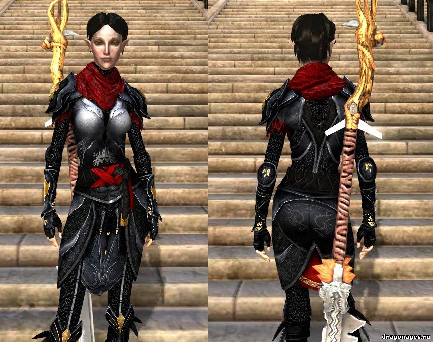 Чёрный ретекстур второго костюма Мерриль \ Merrills black armour, превью