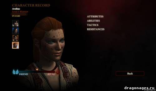 Изящная Авелин в Dragon Age 2, превью