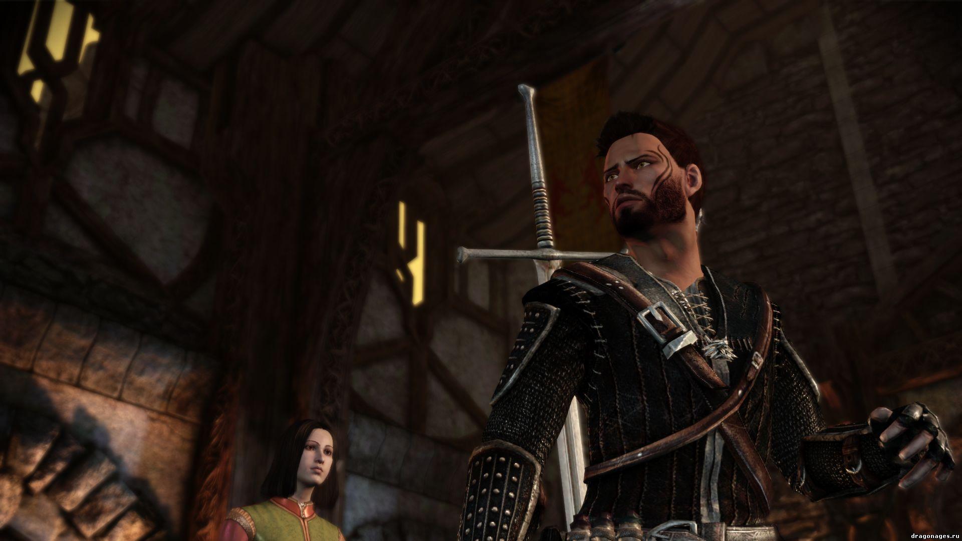 Броня из игры Ведьмак (Witcher) для Dragon Age: Origins, превью