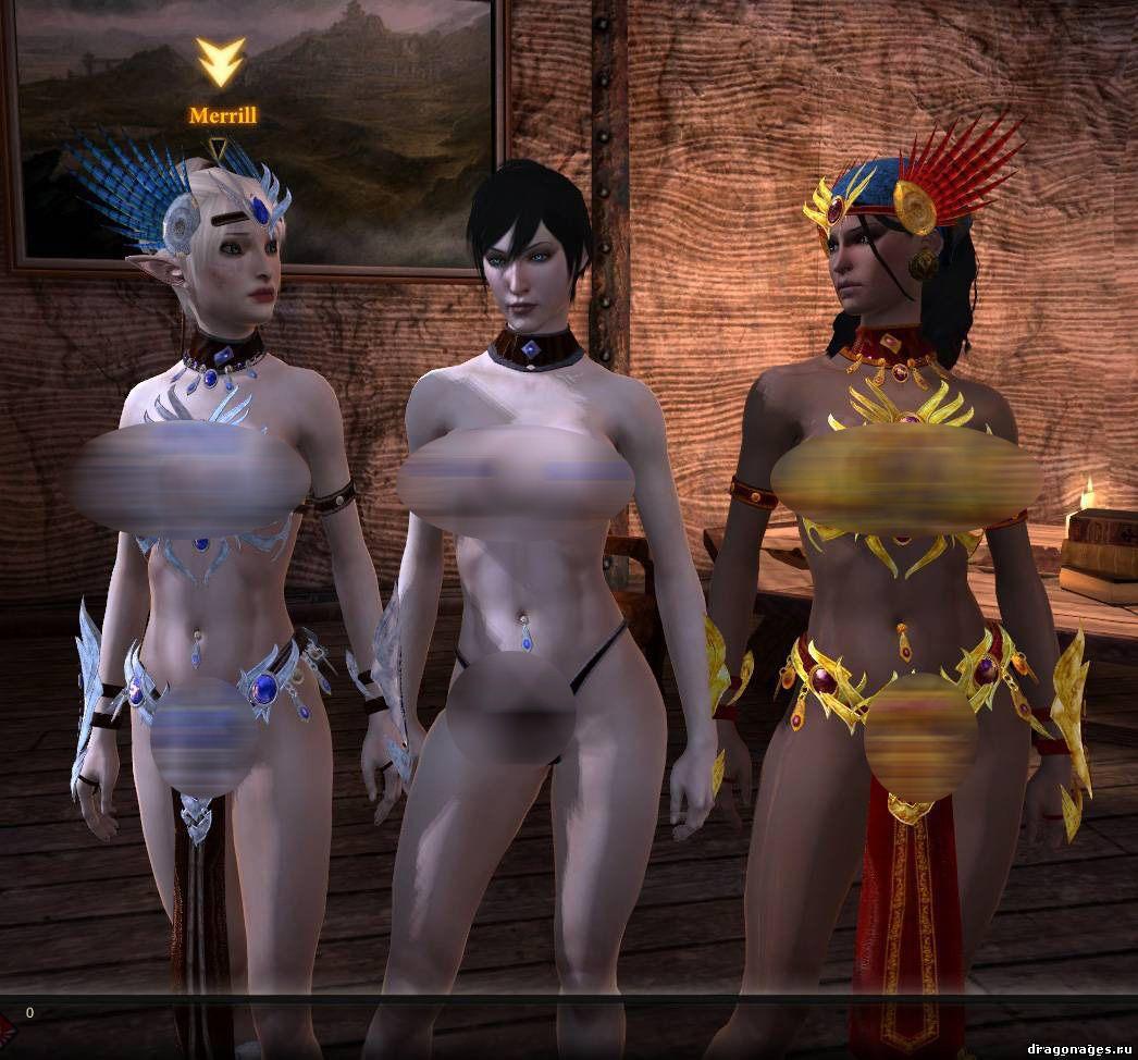 "Новая секс броня ""Голая правда"" для Dragon Age 2, превью"