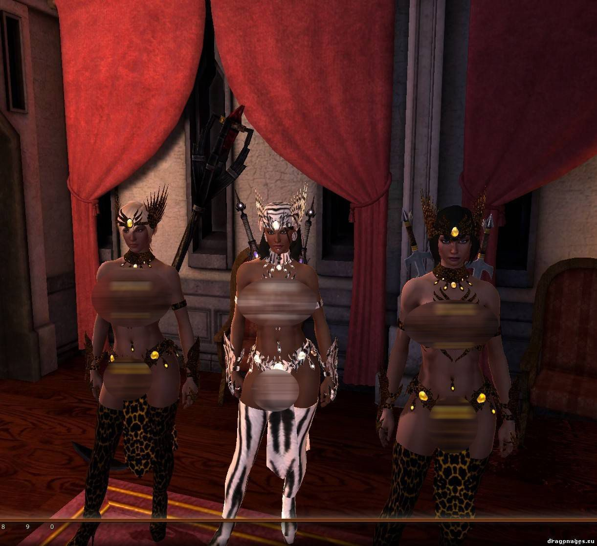 Секс броня амазаонки Dragon Age 2, превью