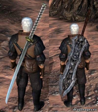 Двуручные мечи для DA2, превью